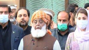Fazl announces to continue protest movement till govt's resignation