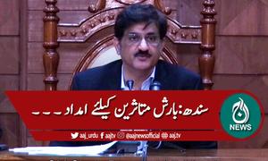سندھ کابینہ اجلاس، بارش متاثرین کیلئے امداد کی منظوری