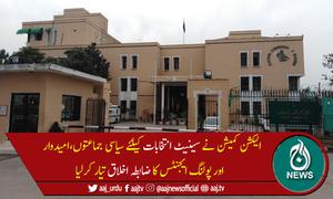 الیکشن کمیشن نے سینیٹ انتخابات کیلئے ضابطہ اخلاق جاری کردیا