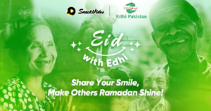 Popular SnackVideo x Edhi Ramadan fundraising campaign gains more momentum as it raises over 5,000,000 PKR in 7 days