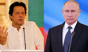وزیراعظم عمران خان  اور روسی صدر میں ٹیلی فونک رابطہ