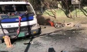 کوئٹہ:بلوچستان یونیورسٹی کے گیٹ کے سامنے دھماکا، ایک پولیس اہلکار شہید