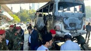 دمشق: فوجی بس میں دھماکا، 13 اہل کار جاں بحق