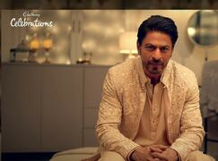 Shah Rukh Khan wears Faraz Manan jacket in Diwali ad